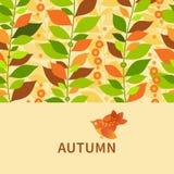 Autumn concept seamless border. Royalty Free Stock Photos