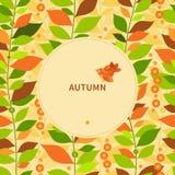 Autumn concept seamless border. Stock Photography