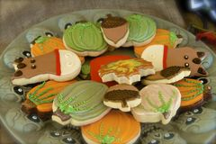 Autumn Cookies Stock Photos