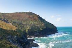 Autumn at the Cornish coast near Boscastle Cornwall England UK Royalty Free Stock Images