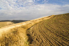Autumn country hilly landscape Stock Photo