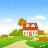 Autumn country house Stock Photography