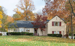 Autumn Country House in Woods Stock Image