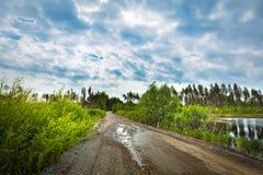 autumn country road Стоковое Изображение RF
