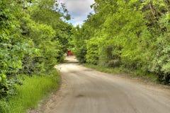 autumn country road Fotografering för Bildbyråer