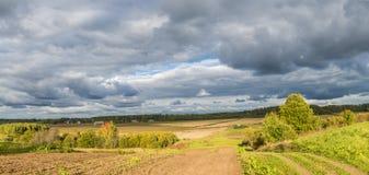 Autumn country road, Latvia Royalty Free Stock Photography