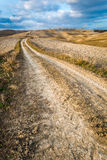 Autumn Country Road in Tuscany Stock Photo