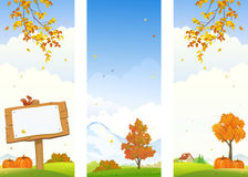 Autumn country vertical banners Stock Images
