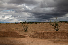 Autumn Countryside with Clouds, Morocco Royalty Free Stock Photography