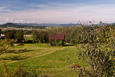 Autumn countryside near Svojkov village in North Bohemia Royalty Free Stock Images
