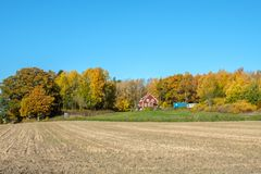 Autumn in Sweden. Autumn in the countryside of Ostergotland, Sweden on a sunny day in October 2017 Stock Image