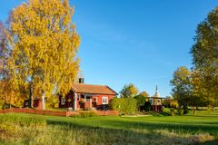 Autumn in Sweden. Autumn in the countryside of Ostergotland, Sweden on a sunny day in October 2017 Royalty Free Stock Images