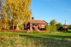 Autumn in Sweden. Autumn in the countryside of Ostergotland, Sweden on a sunny day in October 2017 Stock Photos