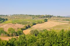Autumn countryside - Volterra royalty free stock photography