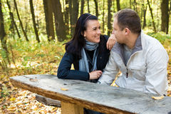 Autumn couple Royalty Free Stock Image