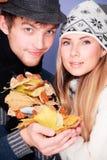 Autumn couple Stock Image