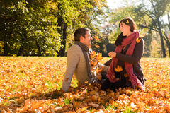 Autumn couple Royalty Free Stock Photo