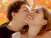 Autumn couple Stock Image