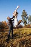 Autumn couple Stock Images