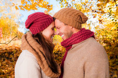 Autumn couple Stock Photography