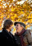 Autumn couple outdoors Royalty Free Stock Images