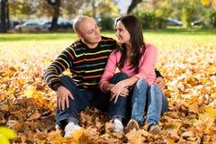 Autumn Couple Portraits royalty-vrije stock afbeeldingen