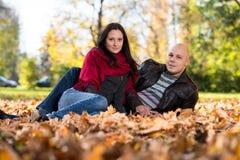 Autumn Couple Portraits stock foto's