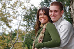 Autumn Couples Royalty Free Stock Image