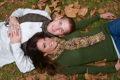 Autumn Couples Royalty Free Stock Images