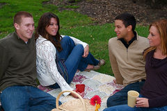 Autumn Couples Royalty Free Stock Photography