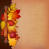 Autumn cover for an album with photos royalty free stock photos