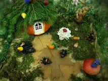 Autumn crafts in kindergarten. stock photography