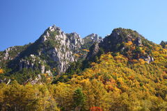 Autumn crag mountain Stock Images