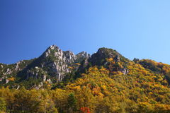 Autumn crag mountain Stock Photo