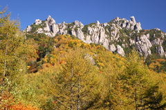 Autumn crag mountain Royalty Free Stock Image