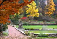 Autumn in Cranbrook house Royalty Free Stock Image