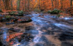 Autumn Creek. Indian Run Creek, Pennsylvania in Autumn stock photography