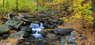 Autumn creek panorama Royalty Free Stock Photo
