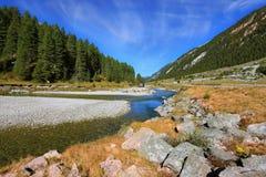 Autumn creek shallow Royalty Free Stock Image