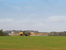 Autumn crop spraying Royalty Free Stock Photos