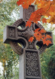 Autumn cross. Cemetery cross in the fall royalty free stock photography