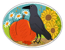 Autumn Crow Royalty Free Stock Images