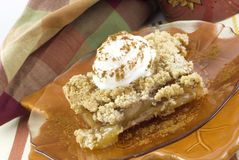 Autumn Crumb Topped Apple Pie Royalty Free Stock Image