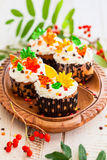 Autumn cupcake Stock Image