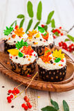 Autumn cupcake Royalty Free Stock Image