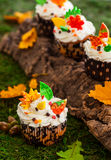 Autumn cupcake Stock Photo