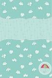 Autumn Cute Rainy Card Royalty Free Stock Photography
