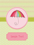 Autumn Cute Umbrella Card Royalty Free Stock Photos