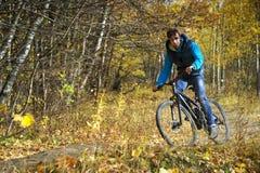 Autumn cycling Stock Photo