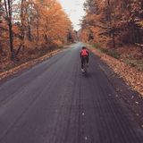 Autumn cycling ride Royalty Free Stock Images